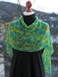 slip stitch crochet lace shawl